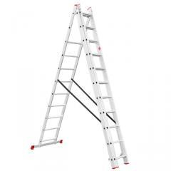 Ladder of aluminum 3rd section universal folding