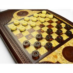 Checkers, Backgammon from amber