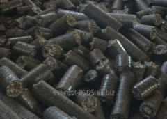 "Briquettes from pod of sunflower ""Nestr"