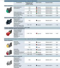 Кнопки нажимные и переключатели 3SB3, 22 мм,