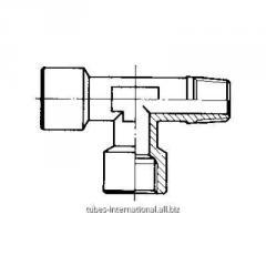 Тройник, наружная конусная / внутренняя резьба A
