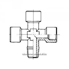 Крестовое соед., наружная конусная / внутренняя резьба A 20
