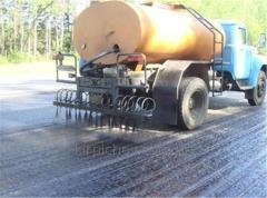 Bituminous road emulsion