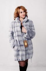 Fur coat from fur of a blue mink