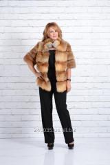 Fur coat from fur of fox