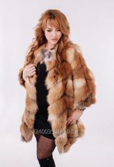 Fur coat from fur of a fox honeycombs