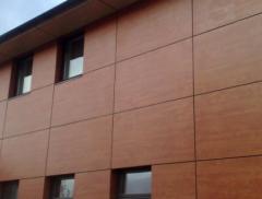 Облицовка фасадов материалом fundermax