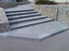 Paving plates from the Ukrainian granite, 60-100