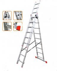Лестница универсальная раскладная 3-х-секционная (3x9) Практика