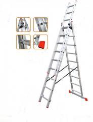 Лестница универсальная раскладная 3-х-секционная (3x10) Практика