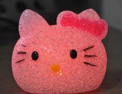 Hello kitty night lamp chameleon crystal