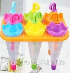 Molds for ice cream an umbrella, 6 forms