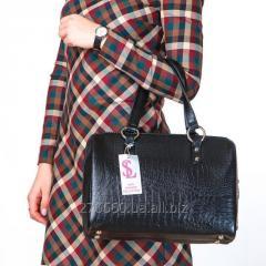 Handbag the Black opaque crocodile with a