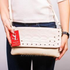 Classical clutch in warm beige color