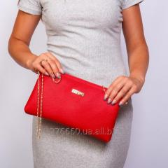 Клатч-сумочка с цепочкой Алый матовый