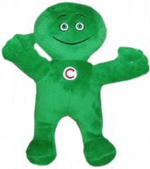 Green little man of Ukrsibbank.