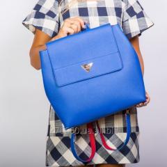 Brightly blue backpack shopper