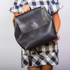 Bag I eat a glamourous black glossy backpack