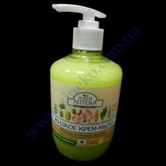 Жидкое крем-мыло Зеленая Аптека 460мл леч. травы миндаль+овсян