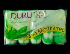 Мыло Duru туалетное 4+1 шт*90г кашемир, зел.чай, морс.минералы