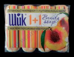 Soap 1+1 Chic toilet 4*90g Spanish nectarine