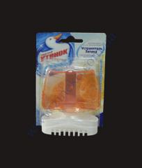 Gel with a basket for toilet bowls of 55 ml the Duckling a citrus