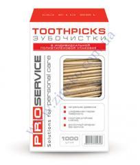 Зубочистки Pro-1300 1000шт инд. цел. уп