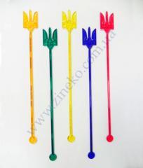 Mixer of Trizub of color 100 pieces 18 cm
