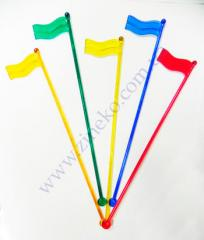 Mixer Flag of color 100 pieces 19,5 cm