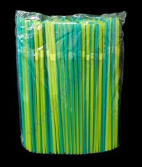 Tubules yellow-blue striped with gofry 21 cm 200 pieces