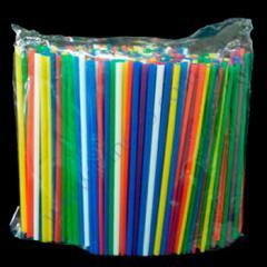 Трубочки алкогольные разноцветные овальные 12,5см 500шт