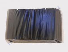 Трубочка фреш-черная прямая 25см d=8мм 500шт