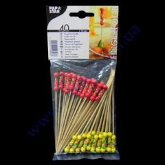 Skewers Mexico 12 cm 40 pieces 2 colors PS-19808 bamb
