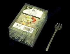 Fork of RS-11203 of transparent 10 cm 50 pieces