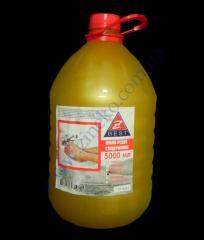 Liquid soap peach of 5 l