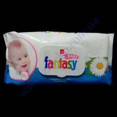 Napkin pieces, damp for children of Fantasy 72, with the valve