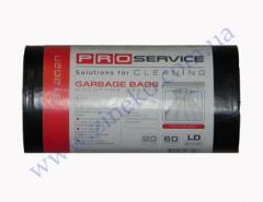 Мешки для мусора Pro-16113300-81202П 60л 20шт черные 20мк ЛД