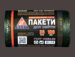 Мешки для мусора Z-Веst-44137 черные 35л...