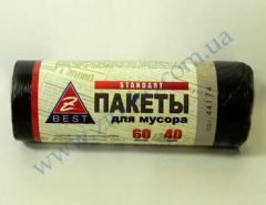 Мешки для мусора Z-Веst-44174 черные 60л...