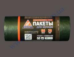 Мешки для мусора Z-Веst-44182 плотные-черные 60л 20шт 17мк