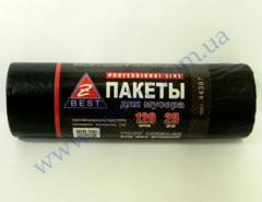 Мешки для мусора Z-Веst-44387 черные 120л 25шт 20мк