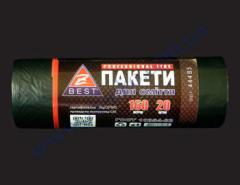 Мешки для мусора Z-Веst-44485 черные 160л 20шт 25мк