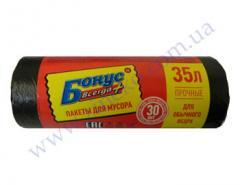 Мешки для мусора Бонус черные 35л 30шт 70я