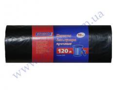 Мешки для мусора Зинеко прочные 120л 10шт 23мк черные Б.