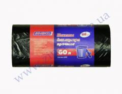 Zineko garbage bags strong 60 l 20 pieces 20mk black LD B.