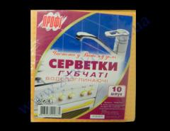 Gubki-Salfetka 15,5kh16sm Hydra of the Pro of 10 pieces