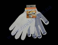 Gloves 577 white a palm point knitted...