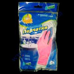 Перчатки суперплотные розовые ФБ с ХБ напылением р.S-маленький