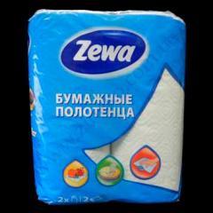 Полотенце бумажные Zewa кухонные 2сл./60 2рул. белые макулатурны