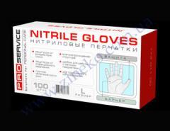 Перчатки нитрил р.L 100шт